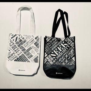 Lululemon set of 2 Small Tote Bags